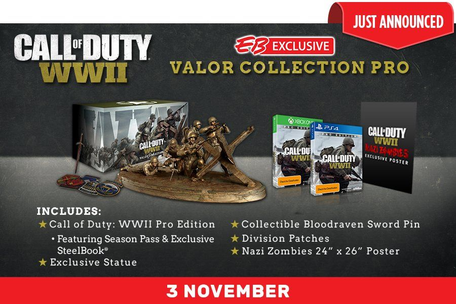 Call Of Duty WWII Valor Edition With Many Premium Items