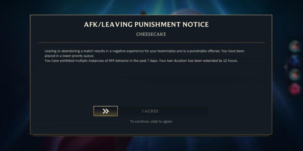 Hukuman afk League of Legends