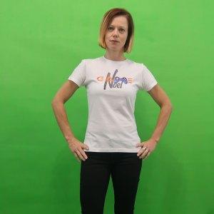GameNOEL bijela ženska majica prednja strana