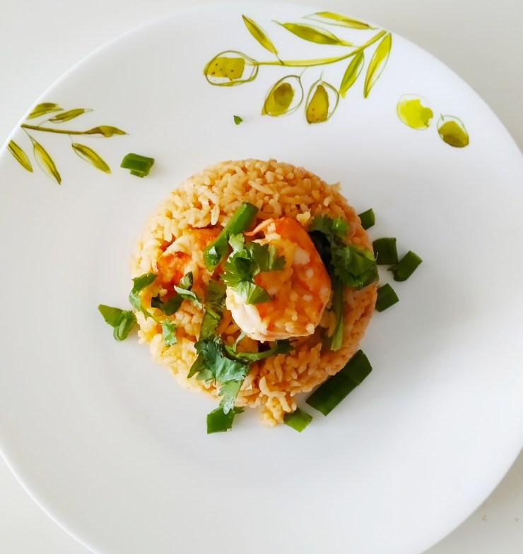 Thai special shrimp tom yum fried rice