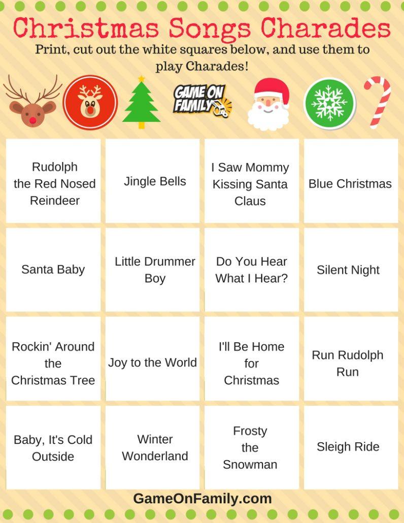 How To Play Christmas Charades Free Printable Games