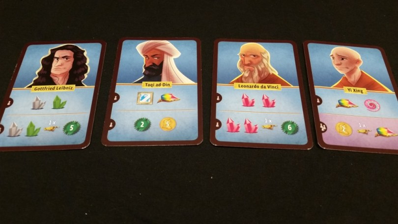 Some sample Encounter cards. These meetings are always profitable!