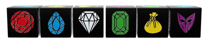 A render of the dice, stolen from the TMG Kickstarter page. Fortunately, the samples they sent us look just as good!