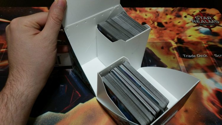 Base, Colony Wars, and every expansion pack in one box, albeit unsleeved. I know, I'm a barbarian.