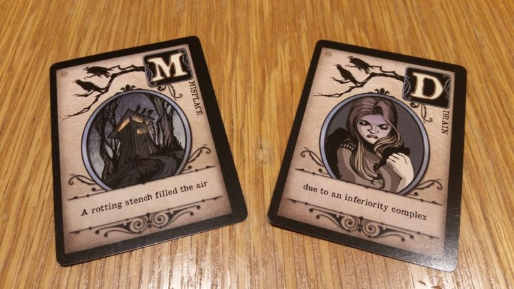 These two cards, each showing 2 crows, can be used to counter each other.