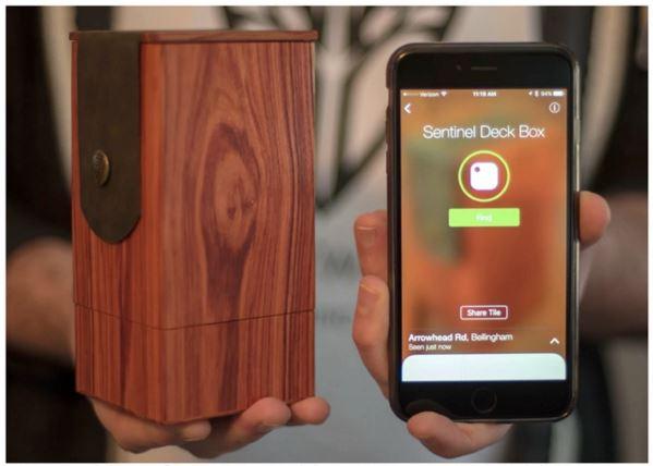 Wyrmwood New Deck Box with Bluetooth Tracker on Kickstarter | Gameosity