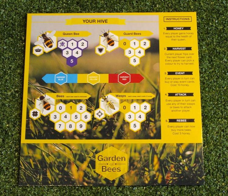 Each player mat illustrates every step of the game, as well as acts as a place for players to place their Harvest bets.