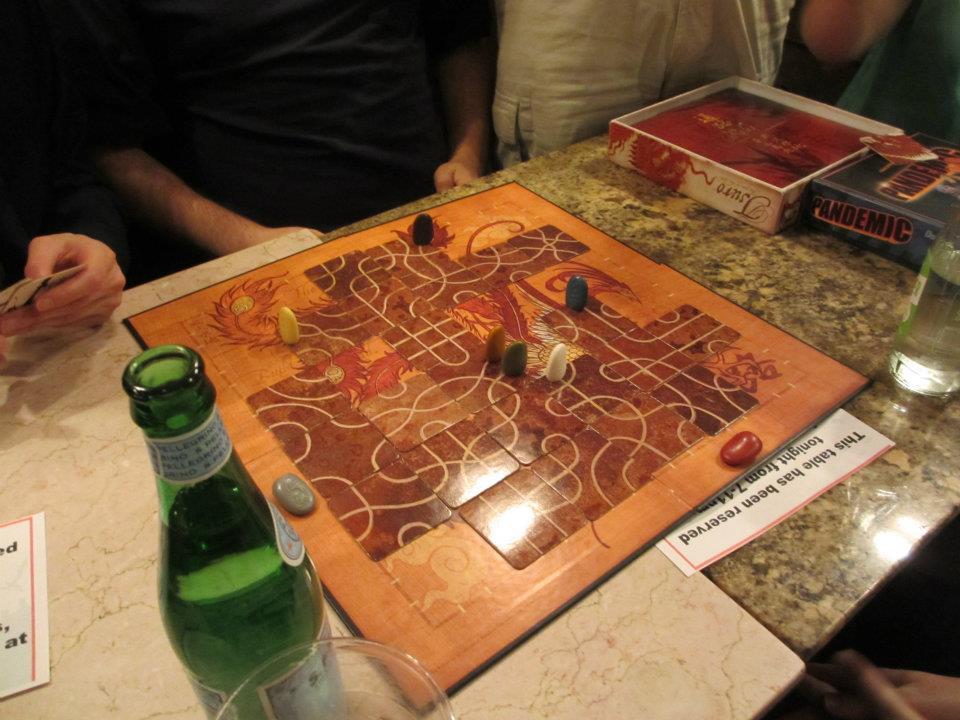 The actual board from our actual first game, over 4 years ago!