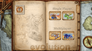 Evolution app menu