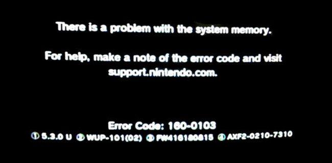 Nintendo error