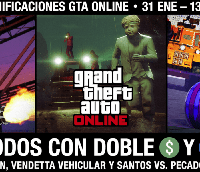 GTA Online: Doble GTA$ y RP en eventos especiales