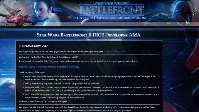 our take ea dice battlefront ii ama on reddit game over thirty