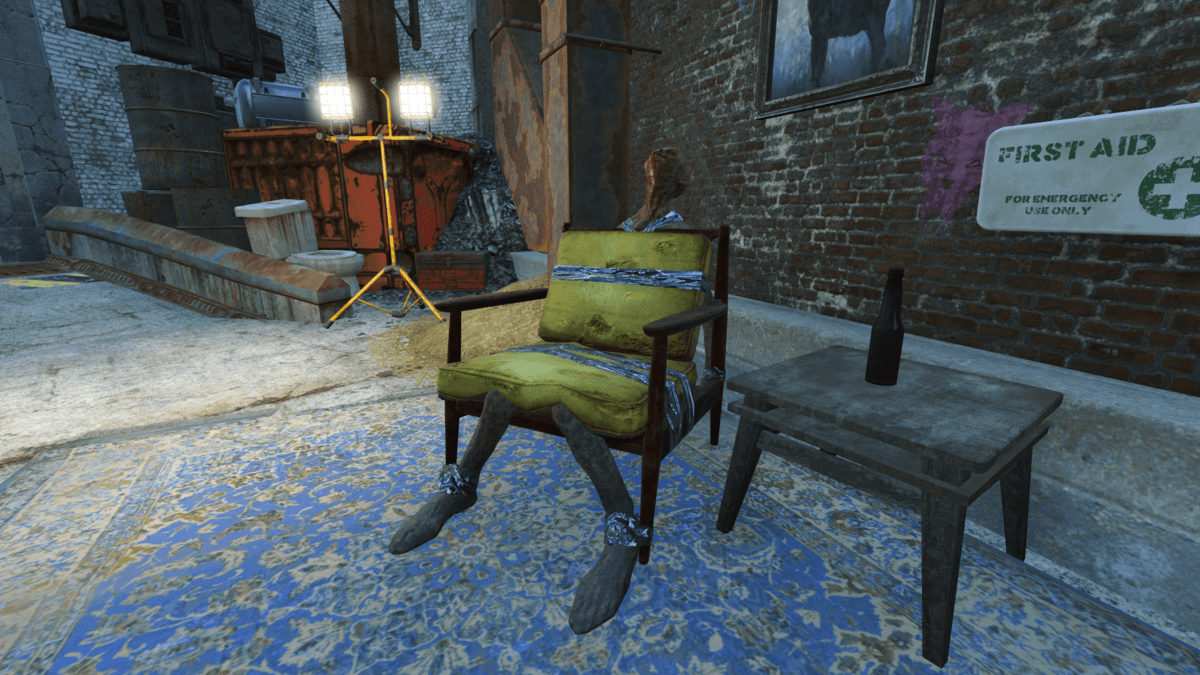 Feral ghoul chair  The Vault Fallout Wiki  Everything