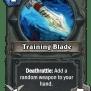 Training Blade Hearthstone Wiki