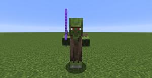 villager zombie minecraft sword farmer enchanted iron