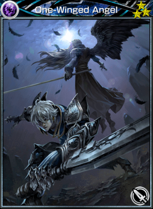 one winged angel card