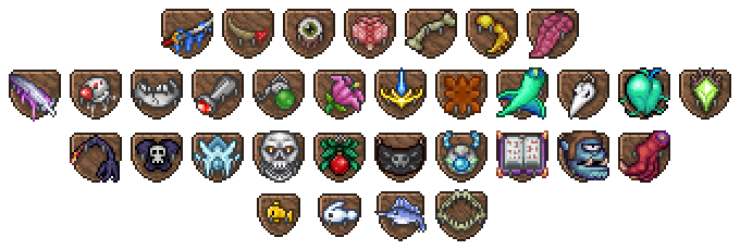 trophies the official terraria