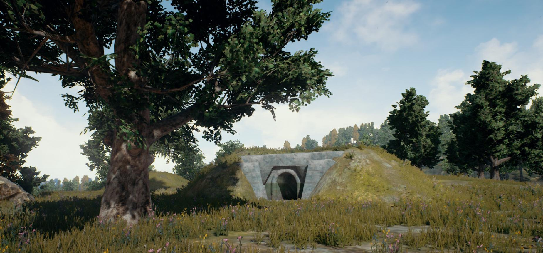 PUBG Bunker Tunnel System Map