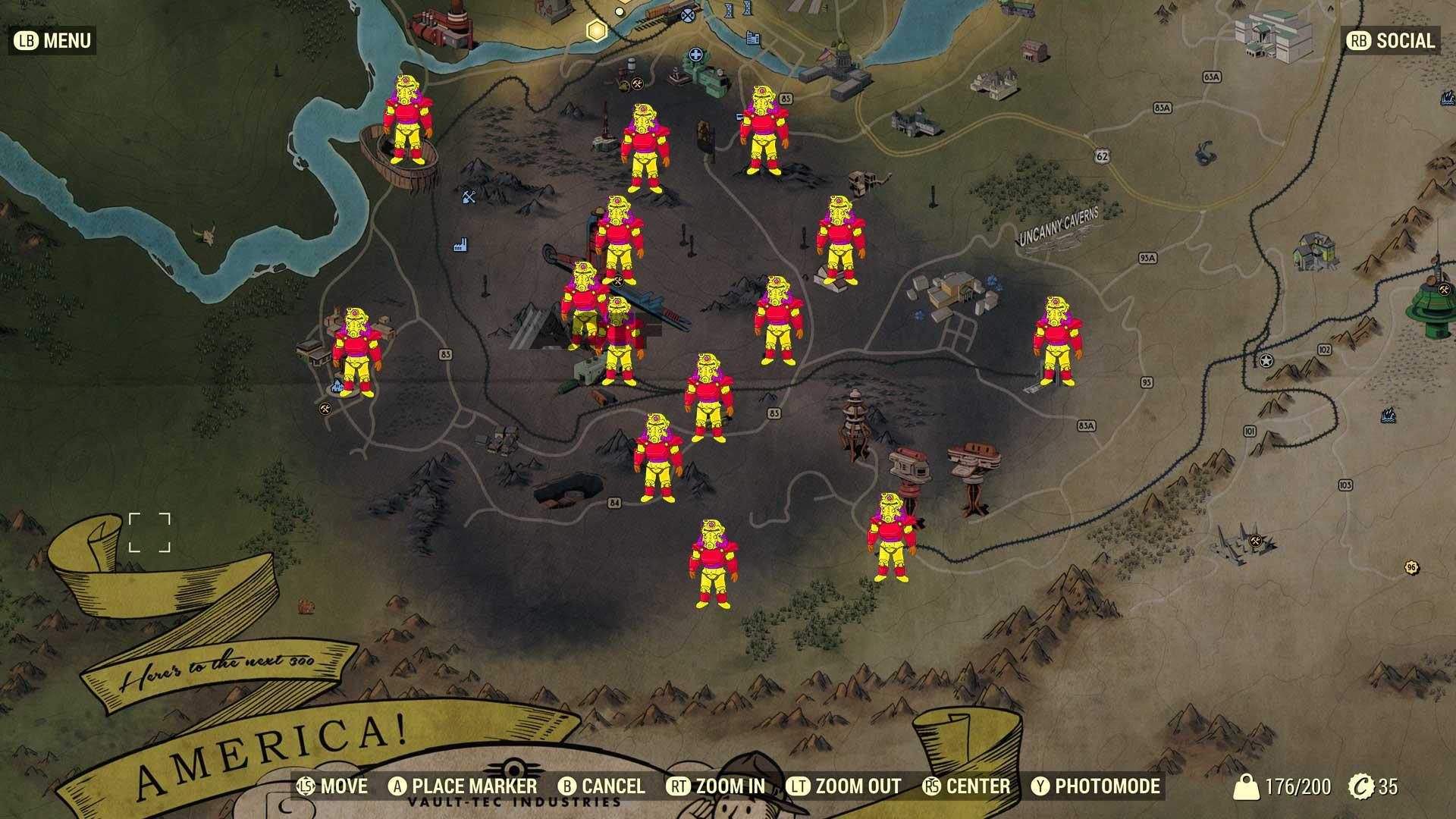 Fallout 76 All Power Armor Locations