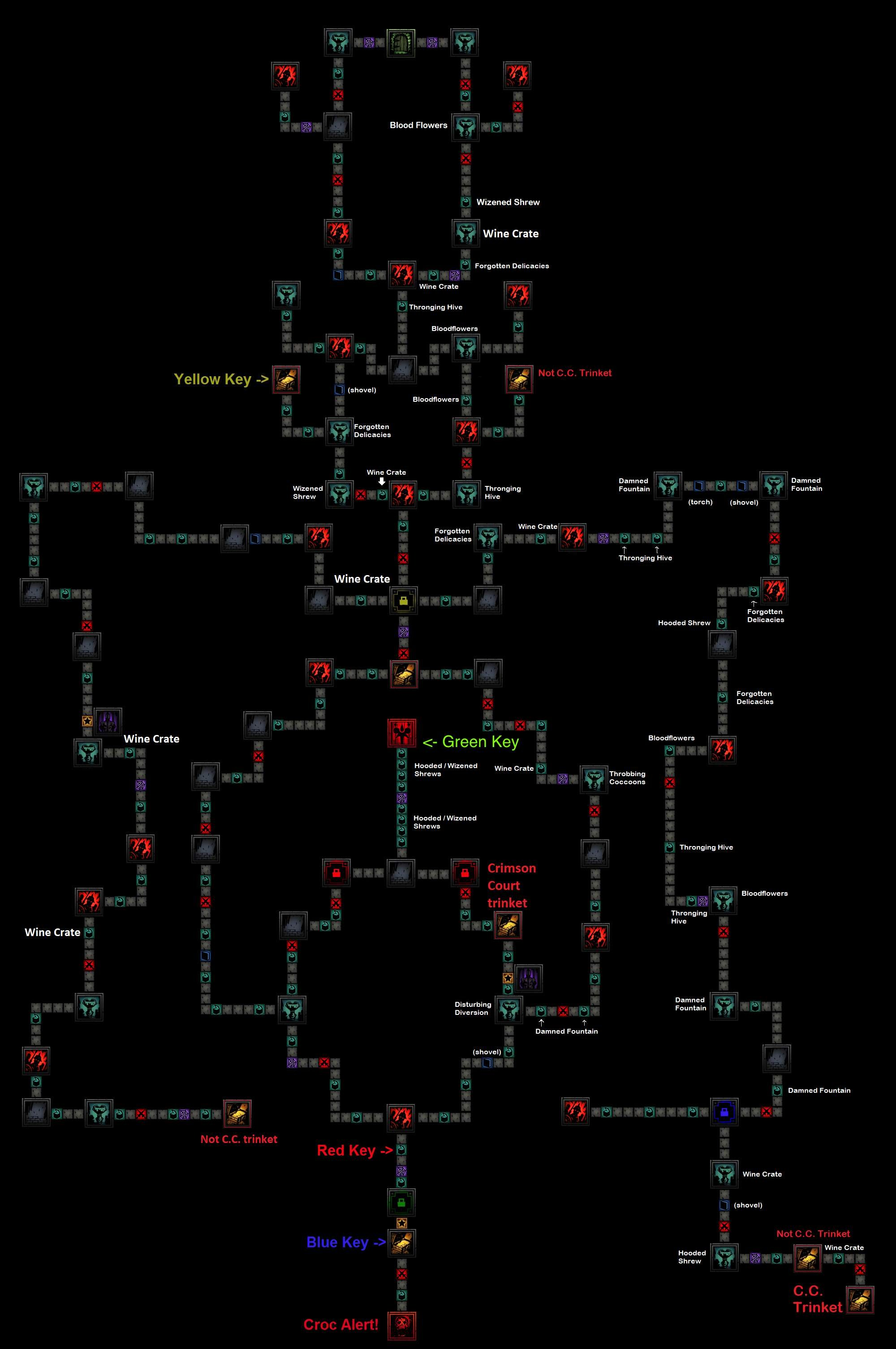 Darkest Dungeon - Crimson Court Detailed Maps