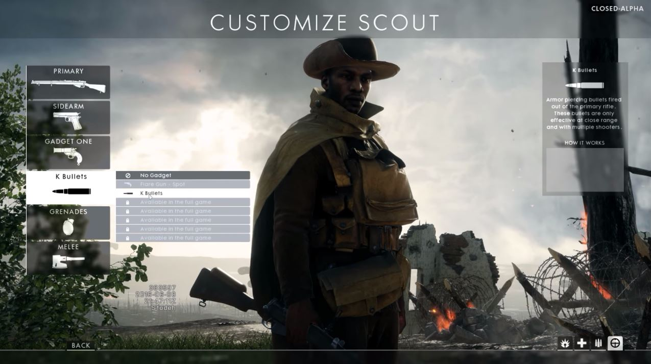 battlefield 1 customisation scout