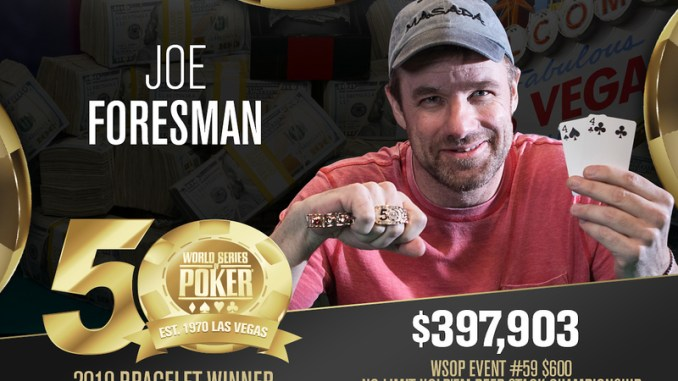<pre>Joe Foresman Memenangkan Gelang Deepstack Hold'em No-Limit $ 600