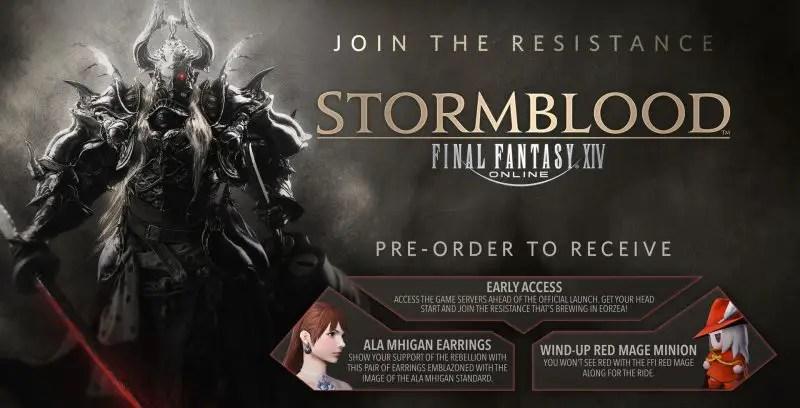 Final Fantasy XIV Stormblood Pre Order Bonuses Game