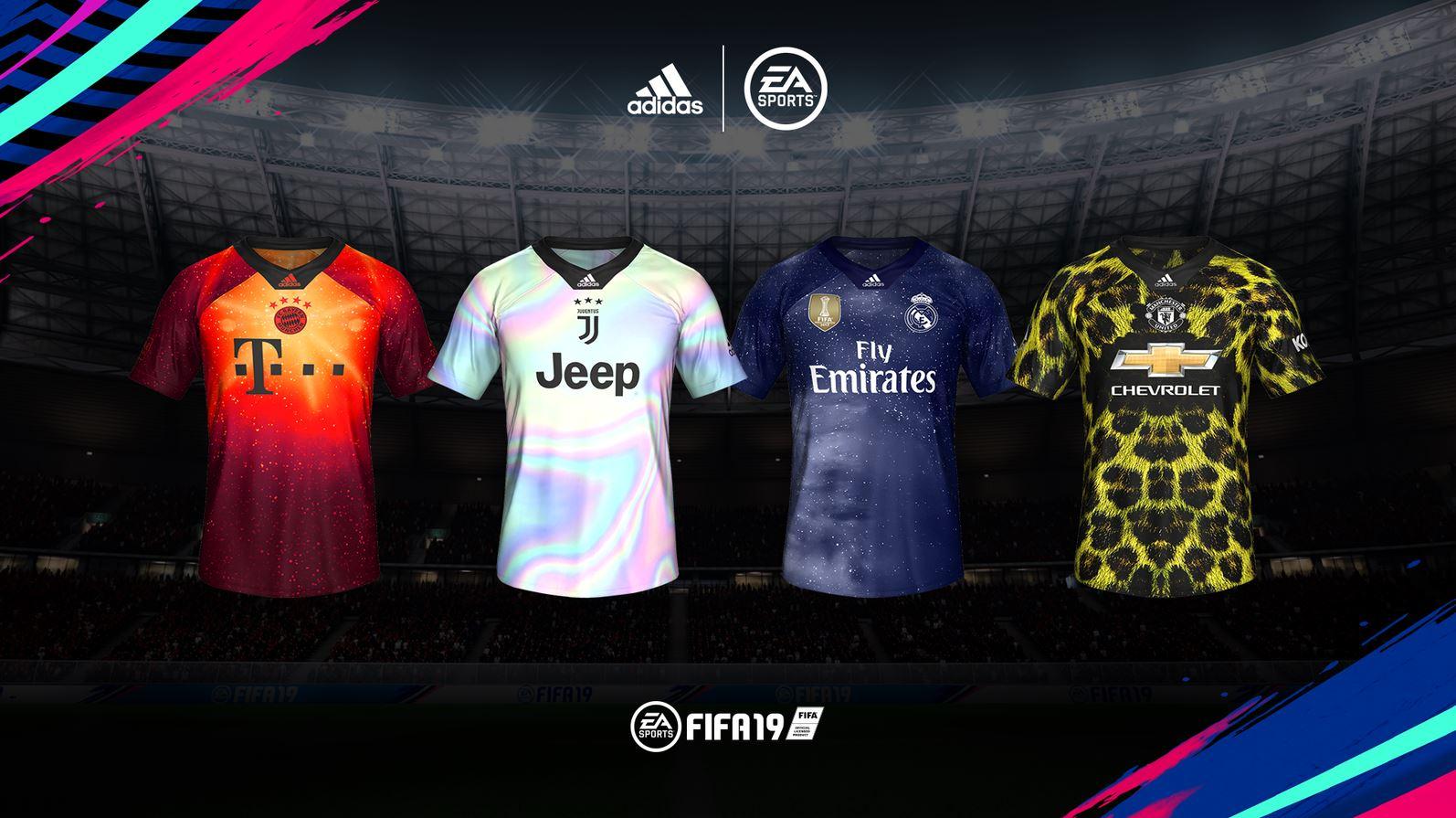 386e080311 FIFA 19  Times ganham novos uniformes exclusivos da Adidas