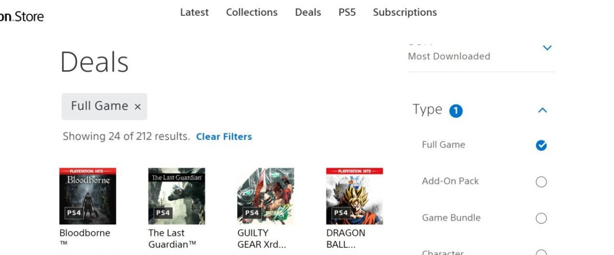 Web PS Store Finally Adds Sorting, Filtering Options Again