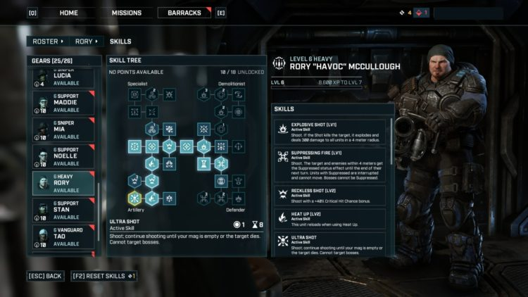 Heavy Class skills And Builds Guide Gears Tactics 2