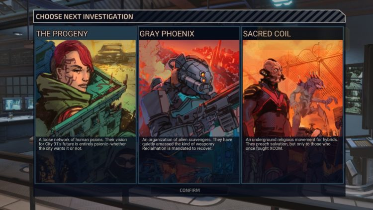 Xcom Chimera Squad Missions Factions Guide The Progeny Dark Events Faction Choice