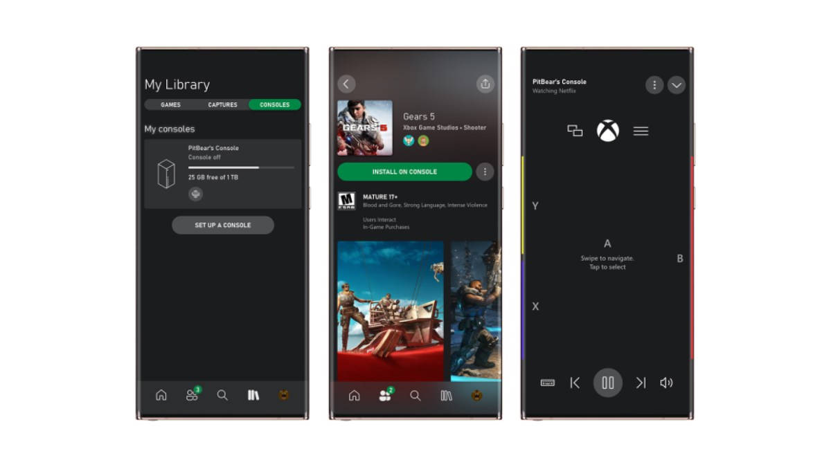 Xbox Mobile Remote Game Management