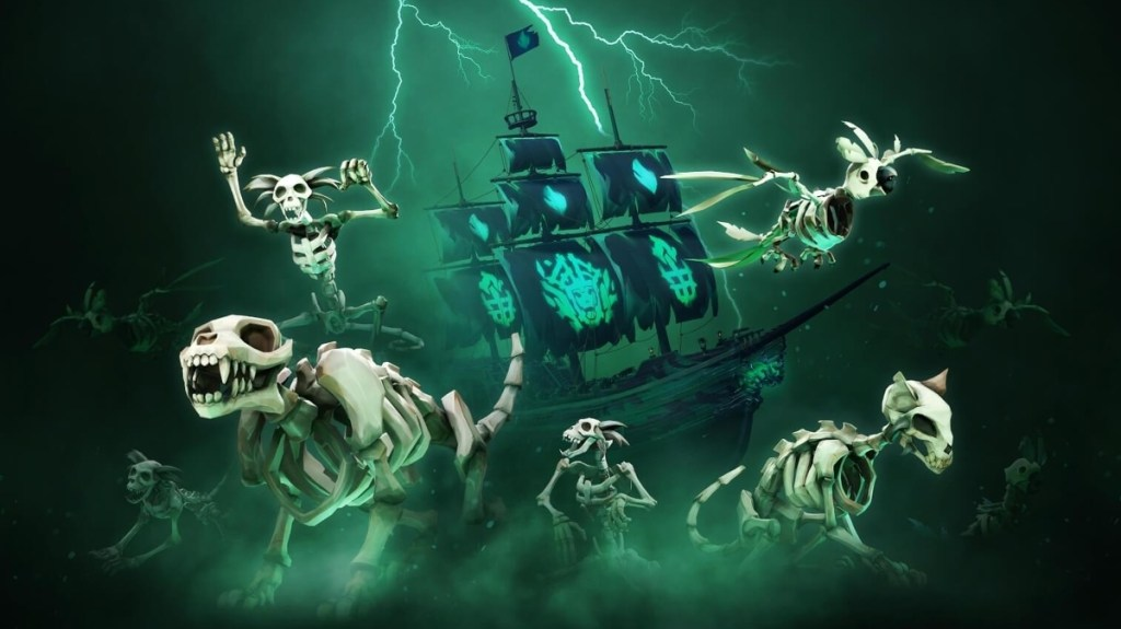 Sea of Thieves' Fate of the Damned update adds spooky voyages, new skeletal pets, more • Eurogamer.net