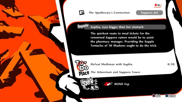 Persona 5 Strikers meal tickets Love Soupreme 1