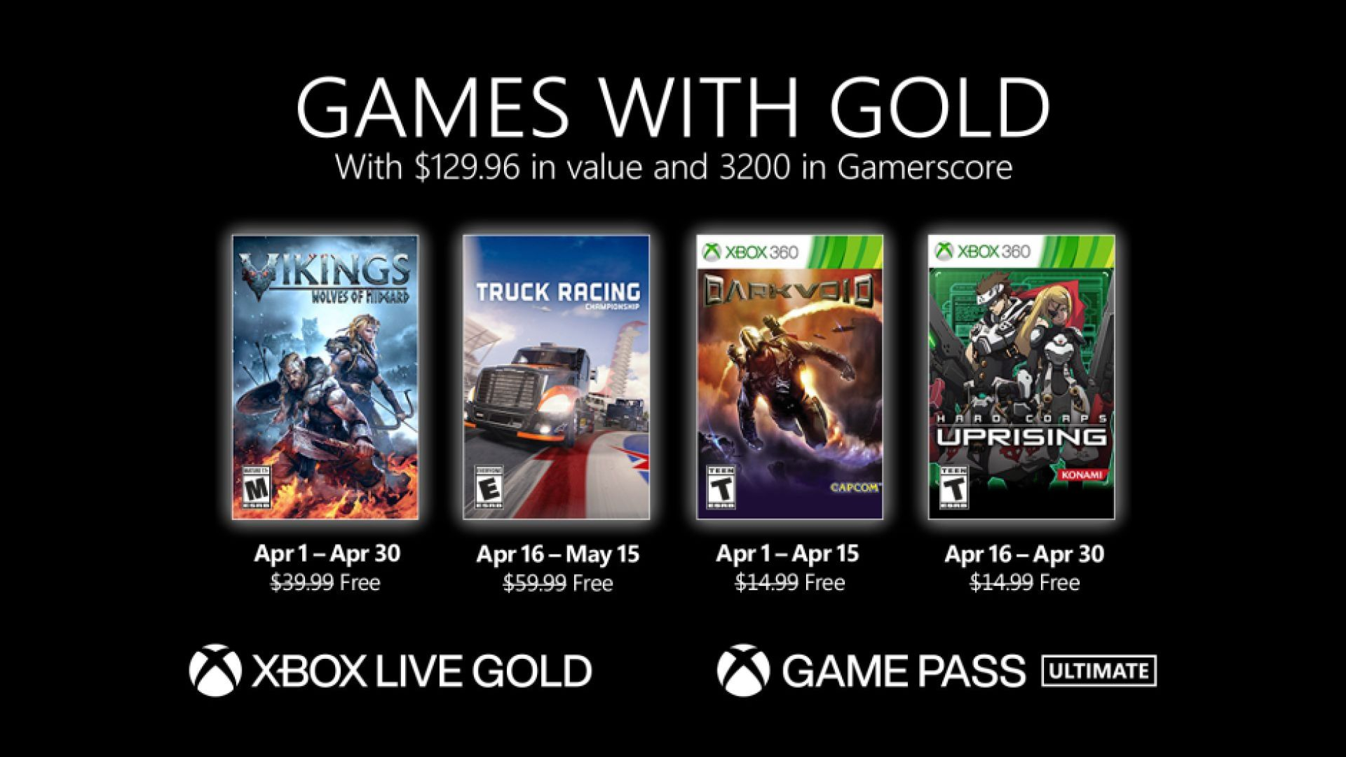 Games with Gold - April 2021