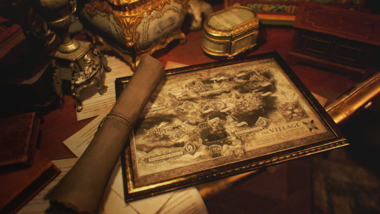 Capcom Shows Off Resident Evil Village World Map And Mother Miranda (1)
