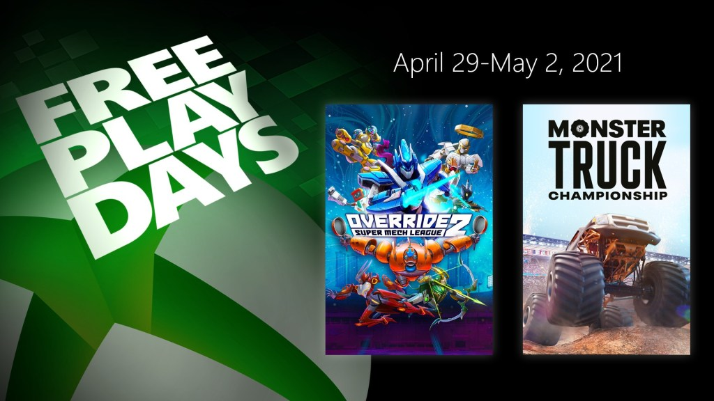 Free Play Days – Override 2: Super Mech League and Monster Truck Championship