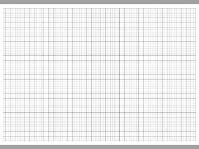 Transparent Grid Sheet A3 Quadratic 10 mm