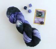 Lastly Ghastly pokemon themed sock yarn by GamerCrafting