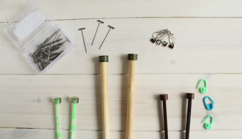 A knitter's toolbox: needles, accessories, and books for less than £10