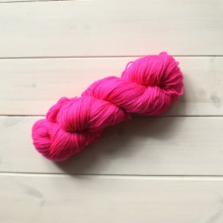 Sugar Rush hot pink semi solid yarn
