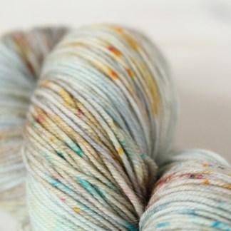 Mammoths in the Sky speckled sock yarn