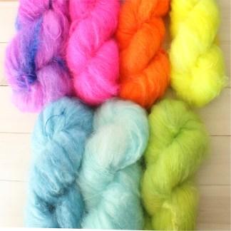 MONSTER FLOOF mohair and merino texture yarn