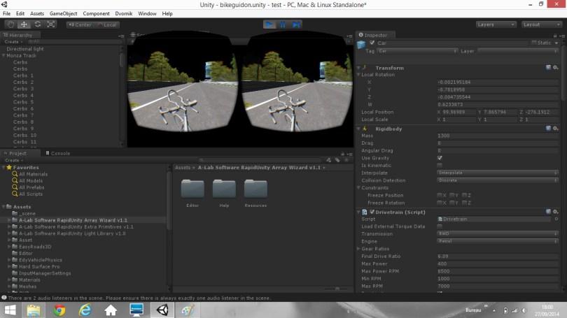 aperçu du logiciel Unity et du monde virtuel