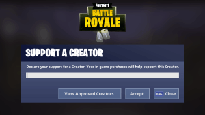 Fortnite How To Support A Creator