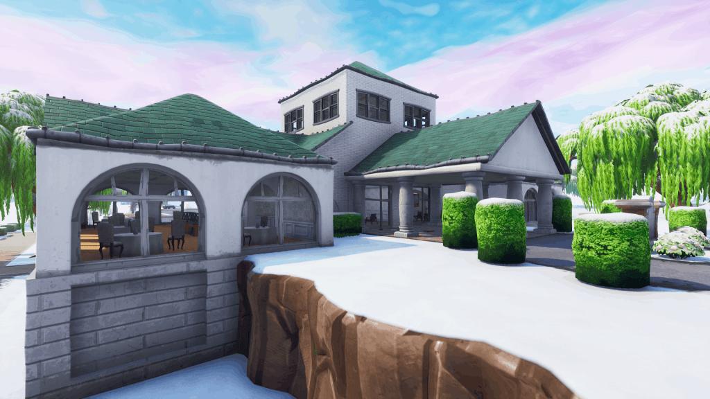 Main building in Lazy Links, Fortnite Season 7