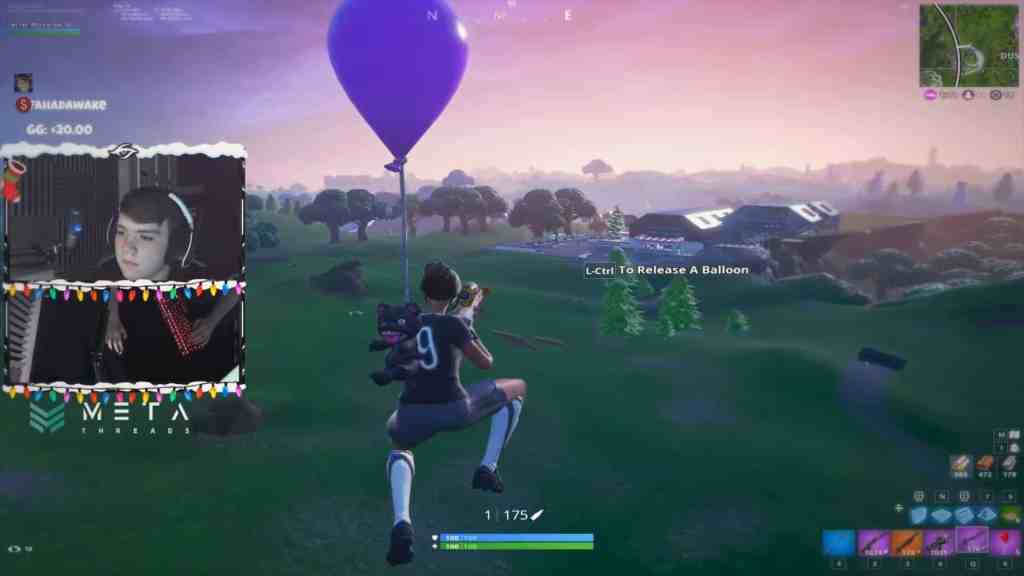 Stretched resolution used by Mongraal in Fortnite