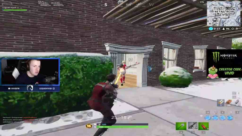 Stretched resolution used by Liquid Vivid in Fortnite