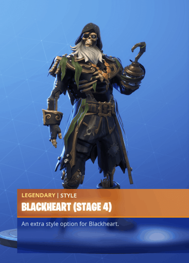 Fortnite Blackheart skin stage 4 season 8 battle pass
