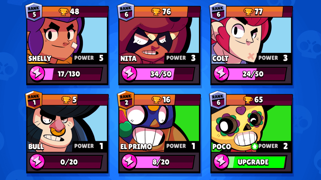 Brawl Stars how to upgrade brawlers and get power points & coins